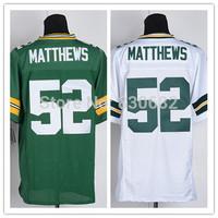 Packers #52 Clay Matthews Jersey Cheap Elite American Football Jerseys Embroidery Logo Mix Order size M-XXXL Free shipping