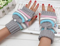New Women's Winter glove warmer kintted golve free shipping 7 colors XM6421