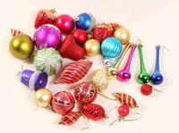 10-18 pcs/set,Mix styles christmas styrofoam balls hanging christmas tree ornaments decor natal merry christmas home decorations