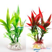 [Super Deals] Red Green Plastic Plant Grass Aquarium Decorative Fish Tank Landscape Decoration Hot