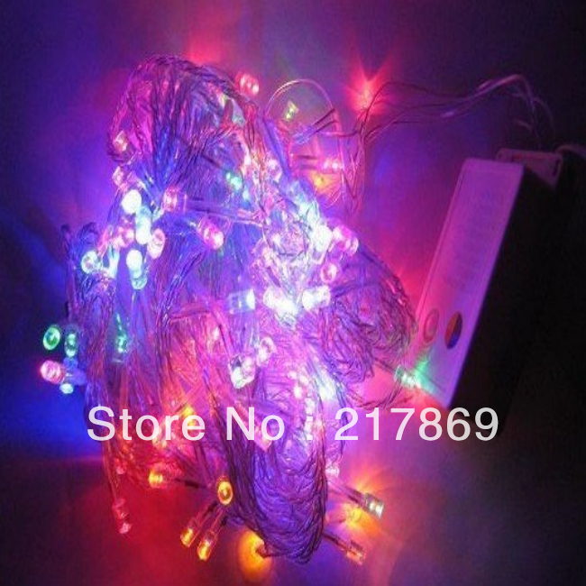 Christmas Holiday Sale 10M/lot 100 LED Red/Green/ Yellow /white/ Colorful outdoor led christmas lights Free shipping(China (Mainland))