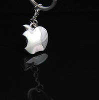 Wholesale Apple Shape Metal Keychain Key Ring for Christmas Business Promotion Gift can Customized Print LOGO