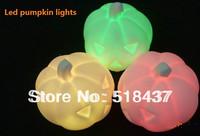 Led pumpkin lights lamps halloween pumpkin lamp Jack-lantern luminous gift led lighting free shpping