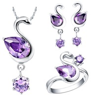 Free shipping,Platinum Plating jewelry sets Austrian crystal elements, fashion jewelry women European and American style T092