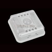 4pcs/Lot Night Lights Wireless Infrared 8 LED Lamp Light PIR Auto Sensor Motion LED Battery White Case Wholesale TK0035