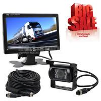12V-24V 7 inch TFT LCD Car Monitor + 4pin IR Night Vision CCD Rear View Camera For Bus Houseboat Truck