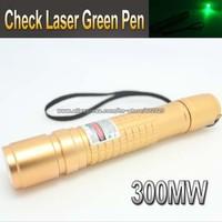 Check Laser G300mW Green Laser Pointer Pen 532nm Green Laser