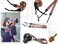free shipping Camera Neck Strap for SLR DSLR Color stripes Soft red