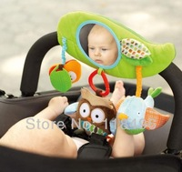 FREE SHIPPING new Zoo Stroller Toy,Friends Stroller Bar Activity Toy, baby seat/bed hanging toy with mirror