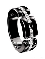 Free Shipping, 2013 NEW,Ceramic ring, wowen rings,setting cubic zircon,Retail&Wholesale