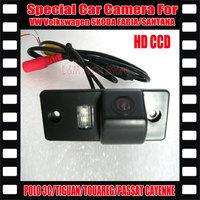 HD CCD Car Rear View Reverse backup Camera for CAYENNE VW Volkswagen SKODA FABIA/SANTANA/POLO(3C)/TIGUAN/TOUAREG/PASSAT Camera