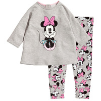 2013 children's Pajamas Suits,Cartoon Minnie Mouse fishion Baby Pajamas, Kids underwear, Girls/boys Long-sleeved homewear sets