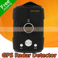 100% Orginal Conqueror GPS Radar Detector 740A with GPS + X,K,KU,KA Brand + Support Russian Language + Free Shipping