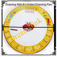 2013 New Aquadoodle Drawing Mat &1 Water Drawing Pen / Magic Water Drawing Toy Wholesale + Free Shipping Diameter 80 CM Round