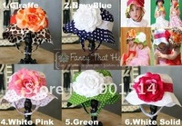 Hot sale Baby flower hats girls sun hats 3 pcs/lot free shipping
