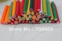 10000PCS/LOT! FAST shipping polymer clay nail art cane for nail art fruit canes and flower nail art cane+free Blade