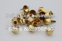 10000PCS/LOT! FAST SHIPPING! 100 x 10mm Gold Bucket Shaped Purse Feet Rivets Studs Fast Shipping Wholesale High Quality