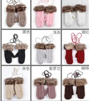 New Hot Sell Thick Knitted Warm Gloves with fingers Wholesale GLOVES-13103178