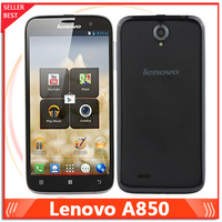 Original Lenovo A850 mobile phone Quad Core 5.5'' IPS Android 4.2 1GB/4GB dual cameras 3G Cell phone Multi-Language