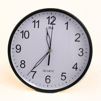 Free Shipping Factory direct round wall clock mechanical  home decor clock simple fashion wall clock