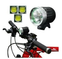 super bright 3xCREE XM-L T6 3600LM 4modes LED Bicycle Light +4*18650 Battery pack