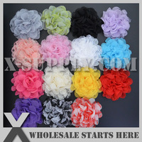 Free Shipping 10cm Fabric Flower with 15 Colors Mixed for Baby Hair Accessories,Headband