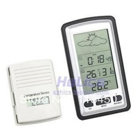 Digital Indoor Outdoor In/Out Meter Thermometer Hygrometer Wireless Weather Forecast Station , freeshipping, dropshipping