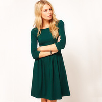2013 new winter fashion round neck tunic dress Princess Women Dress for M sleeve great qulity