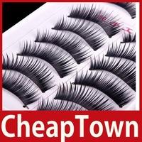 [CheapTown] 10 Pairs Soft Handmade Makeup Natural Fashion Long False Eyelashes Eye Lashes F3 Save up to 50%