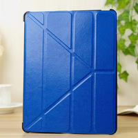 Hot Sale 4 Shapes Leather Case for ipad 3/4/2 Smart Cover with Stand Magnetic slim Anti-skid bag case