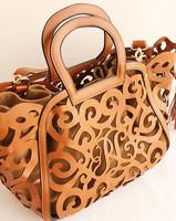 2013 vintage fashion cutout portable women's handbag decorative pattern unique single shoulder bag
