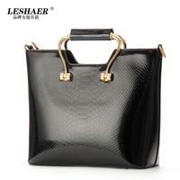 Women's handbag fashion quality 2013 handbag crocodile pattern black big bag a353
