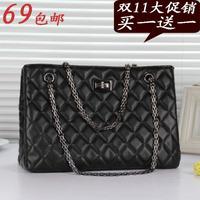 Women's handbag 2013 female quality fashion plaid chain women's one shoulder cross-body bags large