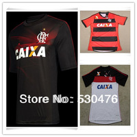 Thai quality Flamengo 2013-14 season home and away jerseys, Third Jersey, flamenco red white black three color football jersey
