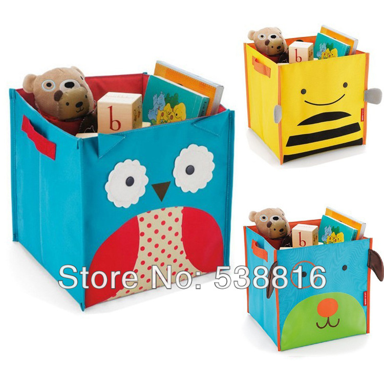 SKP Children's Toys Storage Box Zoo Storage Bins Storage Bag Folding Canvas Owl Bee Dog Ladybug Monkey 5 Styles to Choose(China (Mainland))