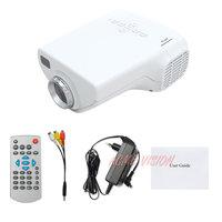 50 Lumens cheap Mini Digital Video LED TV Projector , HDMI Remote Control VGA AV USB SD slot with Russian language