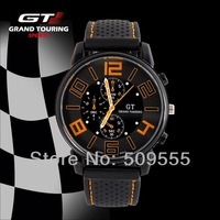 GT Grand Touring F1 Racing Men Watch Sports Cool Military Army Watch New Design For 2014 Hot Sales