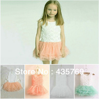 New arrival girls rose dress,kids girls dresses Princess dress 5 pcs/lot  free shipping