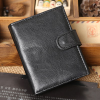 PROMOTION!Free shipping 2014 fashion Mens Wallet Man Purse Men card holder leather wallet brand wallet high quality 2 colors W20