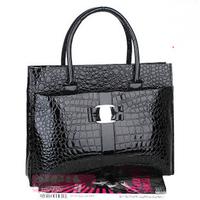 Free Shipping (1 pcs) 2013 Hot selling Luxury OL Lady Women Crocodile Pattern Handbag Tote popular leather Bag B271