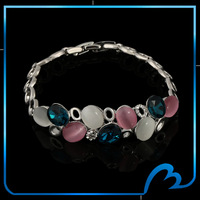 2014 Fashion Bracelets With Shinning Natural Opal & Crystal Charm Bracelets & Bangles For Women's Gifts Hot Selling(SL-1267-13)