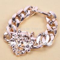 Sheegior 2013 Punk Vintage Cheaper Gold Lion Head CCB metal women bracelets bangles Free shipping !