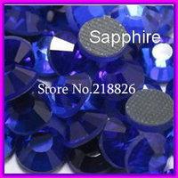 SS10 2.7-2.8mm,1440pcs/Bag Sapphire DMC Hot fix FlatBack Rhinestones,Iron-on garment crystal stones gliters