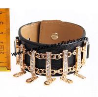 100pcs/lot Fashion lover's bracelet Punk style bracelets new colorful PU leather bracelet  5 colors for choose
