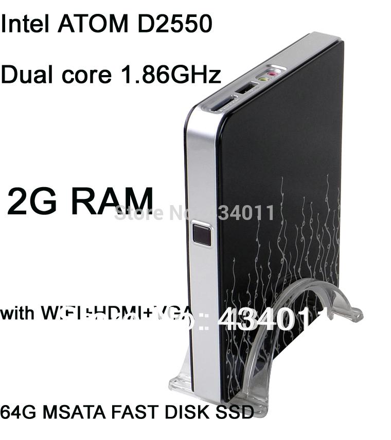 thin client mini pc with 2G RAM 64G MSATA FAST DISK SSD with WIFI+HDMI+VGA+bluetooth windows 7/xp/linux(China (Mainland))