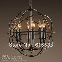 New 2014 Vintage american pendant light candle lamp study light globe lamps d8158