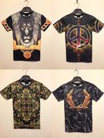 Леопард животных двойной печати женщин мужчин 3d безрукавка казуальных рукавов t рубашка Спорт t рубашка m-xl розничной at01