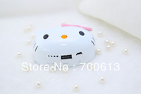 2013 hot selling!Free shipping 8000mAh universal Hello kitty power bank for mobile phone