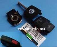 20pcs/lot   VW  2+panic 2+1 3 button folding flip remote key shell cover case blank fob