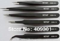 FREE SHIPPING 6pcs/lot Vetus ESD Tweezers,Anti-Static Tweezers,High Precision ESD Tweezer